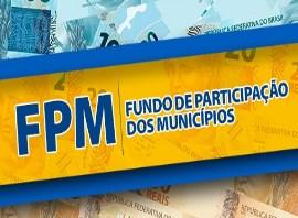 Creditado R$ 463 milhões do Segundo Decêndio do FPM